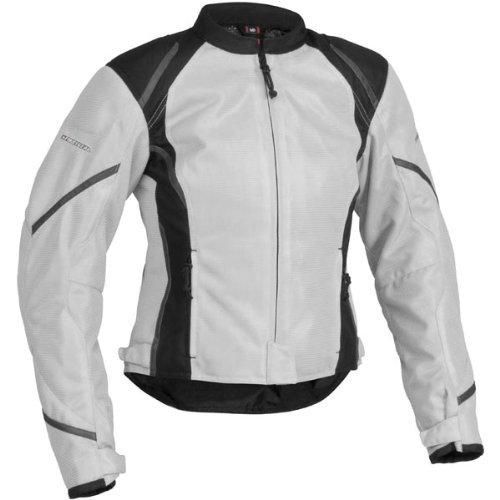 Firstgear Women's Mesh Tex Jacket - Silver/Black Large - FTJ.1307.02.W003