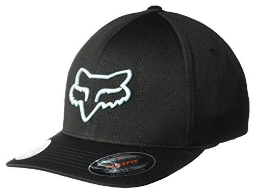 Fox Men's Lithotype Flexfit HAT, Black/Blue, L/X-Large