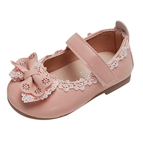 - Tantisy ♣↭♣ Toddler/Little Girls Mary Jane Ballerina Flats Shoes Slip-on School Party Dress Shoes Pink