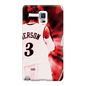 Durable Hard Phone Cover For Samsung Galaxy Note 4 With Custom Colorful Allen Iverson Pictures TraciCheung
