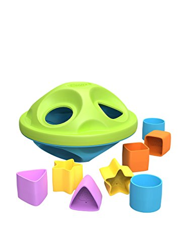 Green Toys Shape Sorter, Green|Blue