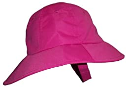 N\'ice Caps Baby Big Brimmed Crushable Sun Hat (6-12 months, fuchsia)