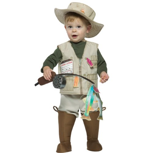 Rasta Imposta Future Fisherman Costume, Brown, 18-24 (Halloween Fish Costume)
