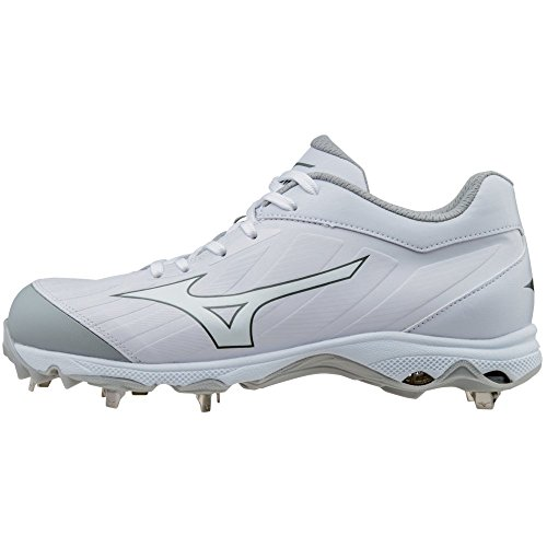 Mizuno Women's 9-Spike Advanced Sweep 3 Metal Softball Cleats - White & White (Women's Size 9) - Mizuno Womens 9 Spike
