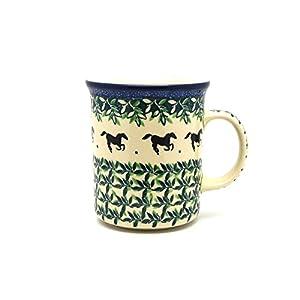 Polish Pottery Mug – Big Straight Sided – Dark Horse