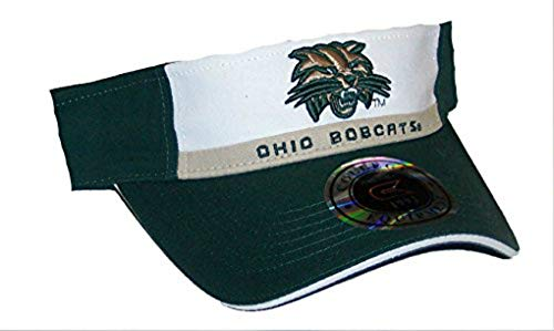 NCAA Ohio Bobcats Adjustable Visor One Size Fits Most Hat Cap - Team Colors