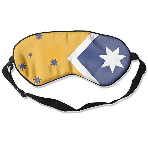 Blue Yellow Australian Flag Eye Mask Sleeping Mask Silk Mask Shade Sleep Gossles - Shades Australian