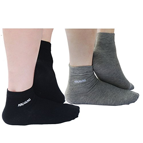 ng Gel Heel Socks for Dry Hard Cracked Skin,Comfy Recovery Socks Day Night Care-2 Pair(Man-6.5-11,Black and Grey) (8 Round Deep Olive)
