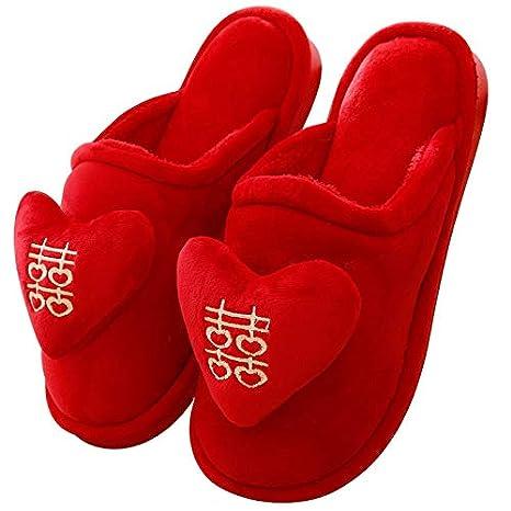 qualità e quantità assicurate super popolare design raffinato XIAOGEGEMT Ciabatte Pantofole da Sposa Rosso Festivo casa da ...