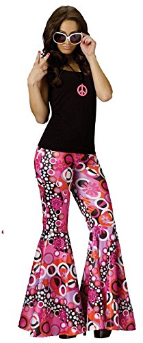 Fun World Women's Sml/med Peace/Bell Bottoms, Multi,