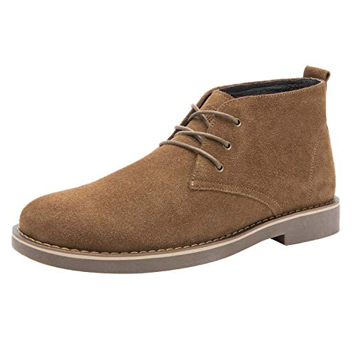 CAMEL CROWN Men's Suede Chukka Boots Leather Lace up Oxford Shoes Casual Fashion Desert Storm Boot - Suede Lace Up Walking Shoes