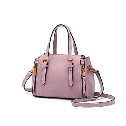 De Ploekgda Bandolera Retro Bolso Capacidad Blue color Negocios Pink Femenino Gran rra4E