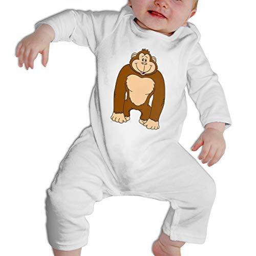 Unisex Baby Cute Gorilla Long Sleeve Romper Jumpsuit