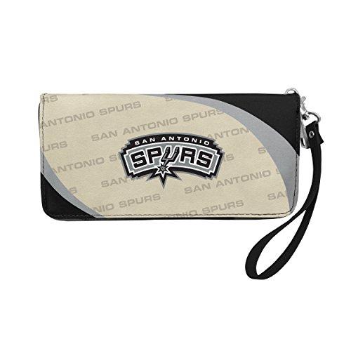 NBA San Antonio Spurs Curve Zip Organizer Wallet