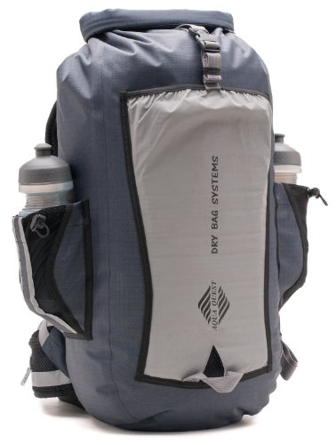 Aqua Quest SPORT 25 PRO Gray Waterproof Backpack with Roll