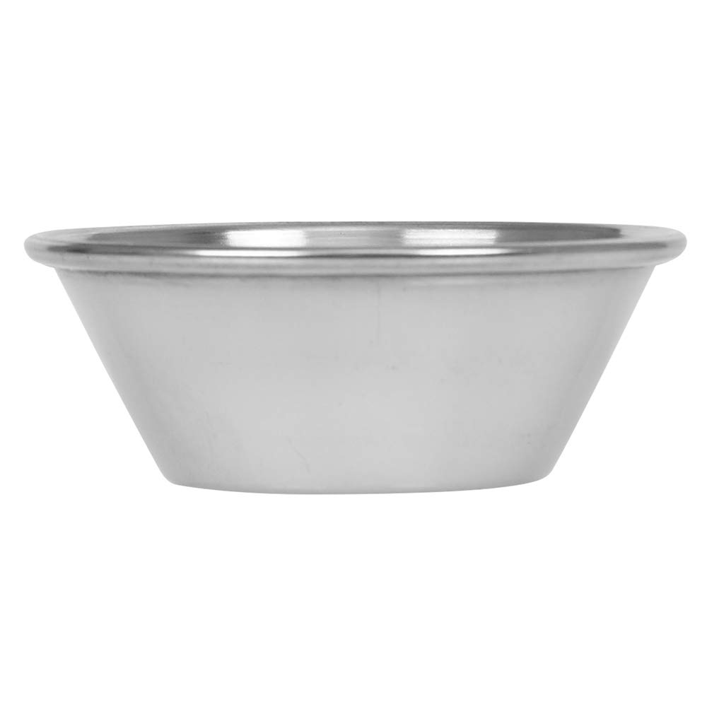 (144 Pack) Small Sauce Cups 1.5 oz, Commercial Grade Stainless Steel Dipping Sauce Cups, Individual Condiment Cups/Portion Cups/Ramekins by Tezzorio by Tezzorio Tabletop Service (Image #2)