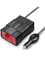 BESTEK 300W Inverter da Auto 12V a 220V-230V Convertitore di Potenza per Auto/Camper/Smartphone/Tablet, Inverter con 2 Porte USB Adattatore per Accendisigari per Auto