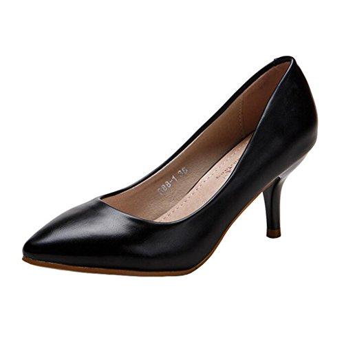 Enfiler Noir a Binying Femme Aiguille Basses Escarpins Xw0w8qRO