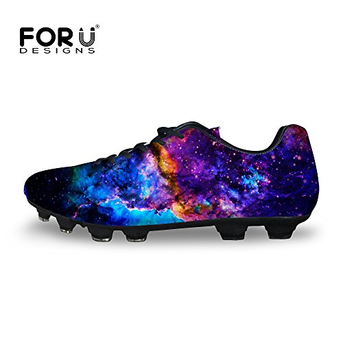 b14fda46f FOR U DESIGNS Casual Men s Galaxy Print Low Top Comfortable Soccer Shoes  Lace-up Sneaker