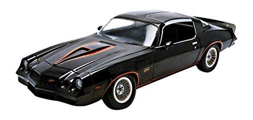1978 Chevrolet Camaro Z/28 Black with Orange Stripes & Black Interior 1/18 by Greenlight 12902