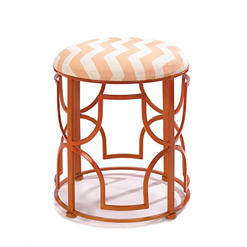 Smart Living Company Teracotta Chevron Design Geometric Stool Vanity seat Extra Seating from Home Locomotion