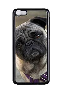 Generic Custom Picture Pug Phone Case Personalized Hard PC Snap On Skin Cover Back Case For iPhone 5C