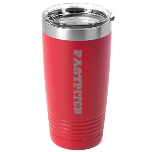 Softball 20 oz. Double Insulated Tumbler | Fastpitch | Red ()