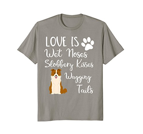 Red Border Collie - Border Collie Shirt Dog Lovers Gift Brown Red Border Collie