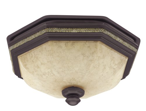 Hunter 82023 Belle Meade Bathroom Fan with Light, New Bronze with Gilded Gold Accents by Hunter Fan Company