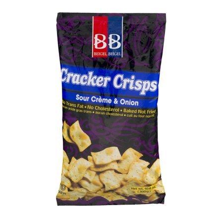 B&B Cracker Crisps Sour Creme & Onion No Cholesterol 10.6 Oz. Pk Of 3.