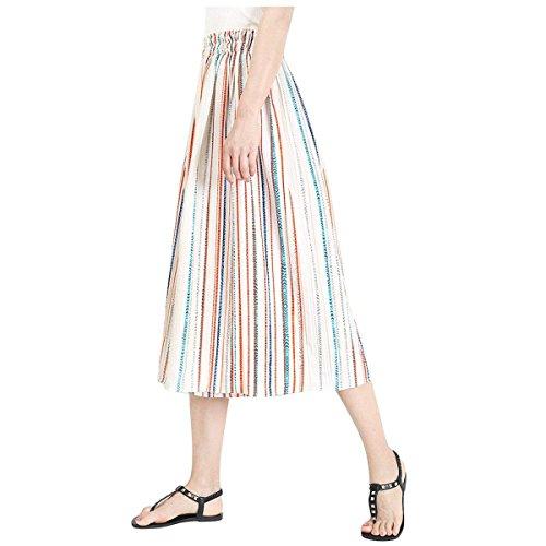 3 Taille Eleganti Pantaloni Colpo Tempo Verticali Pantaloni Donna Estivi Arancia Casual Grazioso Moda Larghi Libero 4 Pantaloni Strisce Pantalone Nahen wSqt7Yx