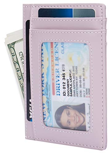 Small RFID Blocking Minimalist Credit Card Holder Pocket Wallets for Men Women