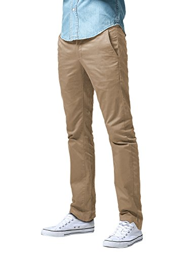 Match Men's Slim Fit Straight Leg Casual Pants (34, 8036 British Khaki)