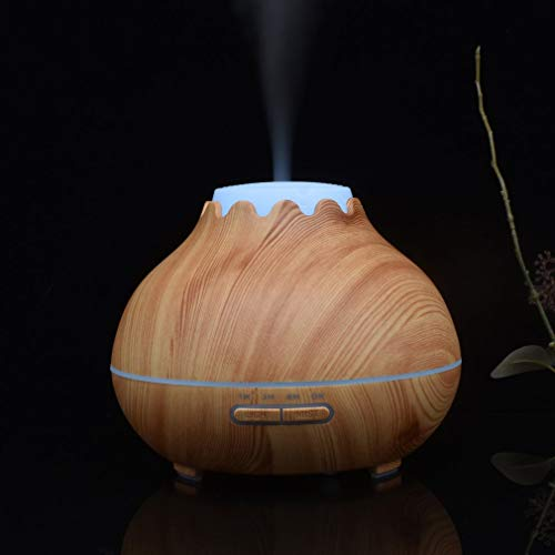 YCDC B 400ml Aroma Essential Oil Diffuser, Wood Grain, Air Humidifier, with 7 Color Changing LED Lights, for Office Home 400ml Aroma Essential Oil Diffuser Wood Grain Air Humidifier with LED Lights by YCDC (Image #4)