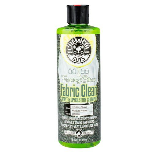Upholstery Fabric Cleaner - Chemical Guys CWS_103_16 Fabric Clean Carpet and Upholstery Shampoo and Odor Eliminator (16 oz)