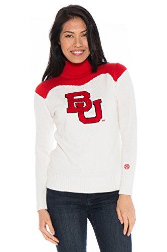 NCAA Boston University Terriers Women's Cheer Sweater, Small, Cream/Crimson