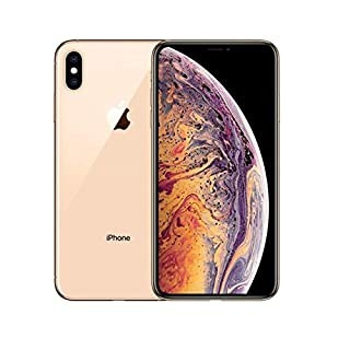 Apple iPhone Xs MAX Replacement Back Glass Cover Back Battery Door w/Pre-Installed Adhesive,Best Version Apple iPhone Xs MAX All Models OEM Replacement (Gold)