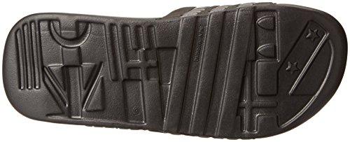Adidas Heren Adissage Sc Dia Sandaal Zwart / Zonne-slijm / Ijzer Metallic