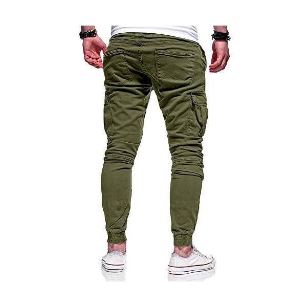 XXBlosom Mens Elastic Waist Fitness Athletic Casual Jogger Ombre Color Pants