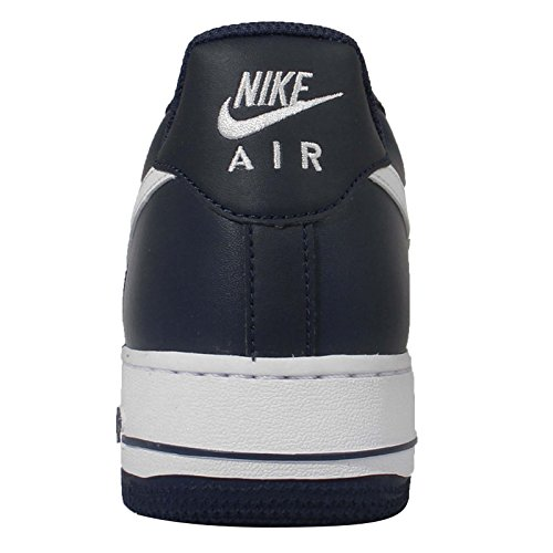Midnight 1 White Navy mid Nike Force Air Trainers Navy Men's X0a1wq