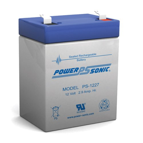 Lead Sonic Battery Acid Power - Power-Sonic PS-1227 F1 Sealed Lead Acid Battery