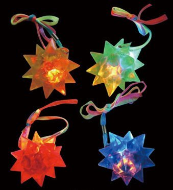24 Light Up LED Flashing Crystal Star Balls ()