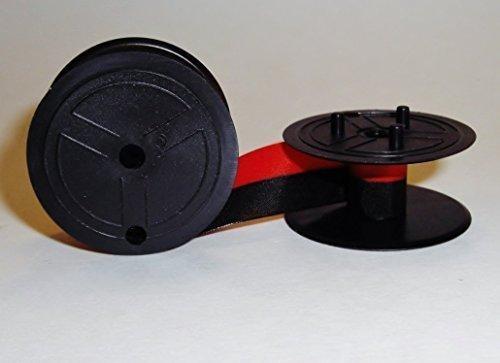 4 X Sharp Electronic Calculator Ribbon Twin Spool Black & Red Ribbon - Fits all Twin Spool Models