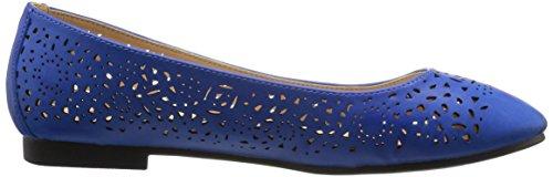 Navy Flat Shoes Wide Annie Women's Calf Esteppe XqYxn
