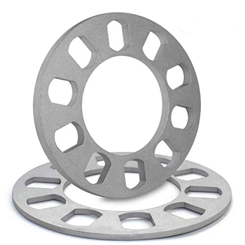 (5mm Thickness Wheel Spacers for 5 x 100mm, 5 x 105mm, 5 x 108mm (5 x 4.25), 5 x 110mm, 5 x 112mm, 5 x 114.30mm (5 x 4.50), 5 x 115mm, 5 x 120.65mm (5 x 4.75), 5 x 120mm)