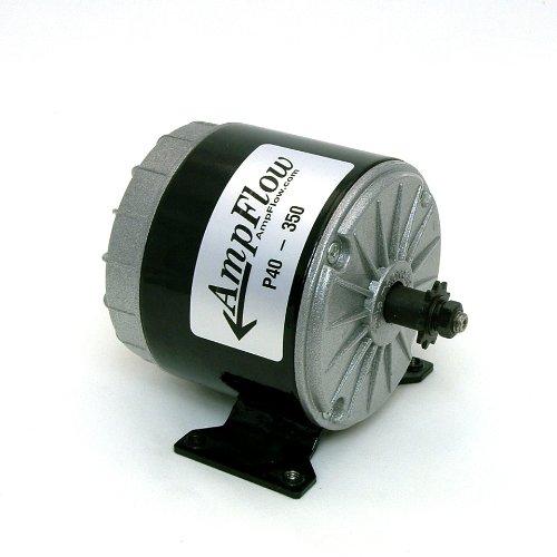 AmpFlow P40-350 Brushed Electric Motor, 350W, 12V, 24V or 36 VDC, 3500 rpm (24 Volt Motor compare prices)