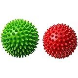Therapist's Choice® Pack of 2 Spiky Massage Balls, Hard & Soft Combo, Stress Reflexology, Porcupine Sensory Ball Set