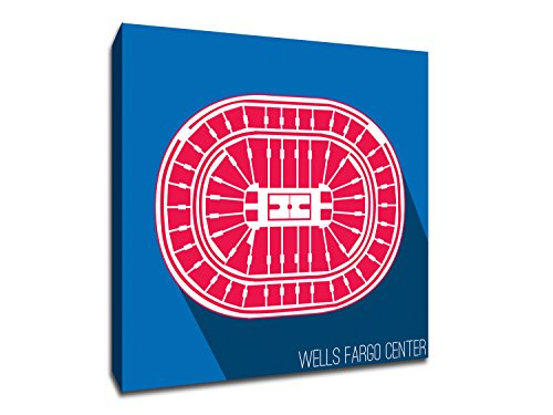 (Philadelphia - Wells Fargo Center - Basketball Seating Map - 12x12 Gallery Wrapped Canvas Wall Art)