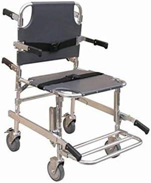 SXRNN Silla de Ruedas Plegable Trolley Ligera Silla de la Escalera Emergencia médica Transferencia de Pacientes con apoyabrazos Doble Freno