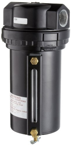 Dixon F30-06MMB Manual Drain Wilkerson Airline Jumbo Filter with Metal Bowl and Sight Glass, 3/4'' Size, 316 SCFM Flow, 200 psig Pressure by Dixon Valve & Coupling